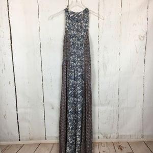 Japna blue paisley boho maxi dress
